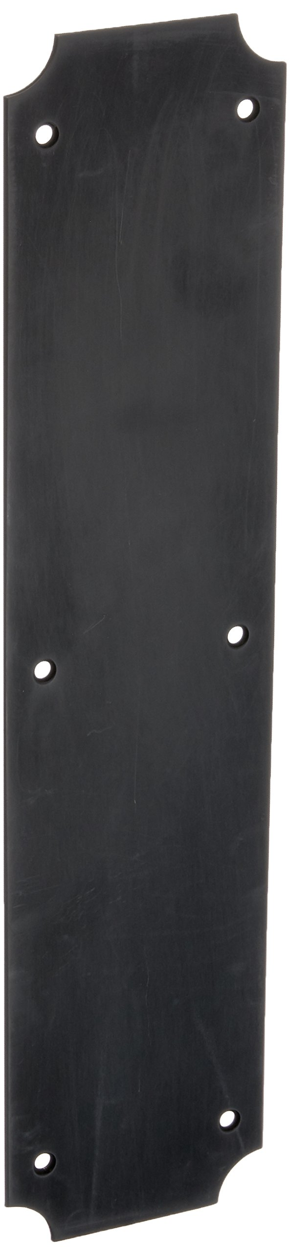 Baldwin 2275 3-1/2 Inch x 15 Inch Solid Brass Scalloped Push Plate, Oil Rubbed Bronze