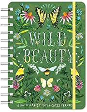 """Katie Daisy 2021 - 2022 On-the-Go Weekly Planner: 17-Month Calendar with Pocket (Aug 2021 - Dec 2022, 5"""" x 7"""" closed): Wild Beauty: On-the-Go Weekly Planner"""