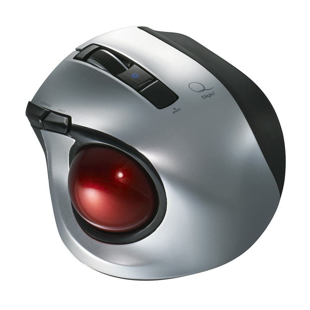 Nakabayashi Co,Ltd Small Mouse 2.4GHz Wireless Trackball 5 Buttons Pink