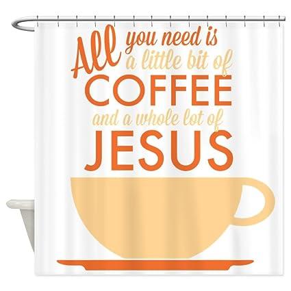 Amazon CafePress Coffee Jesus Shower Curtain Decorative