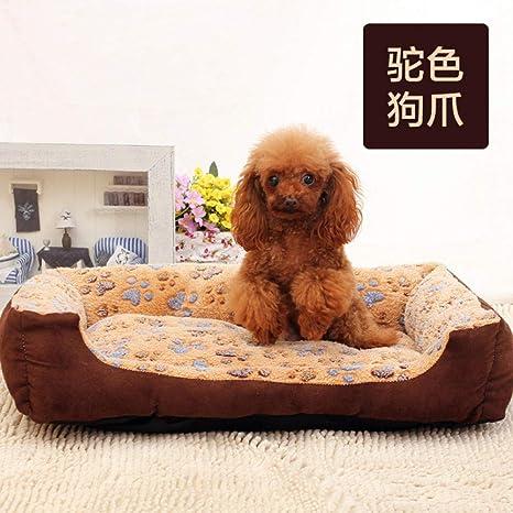 ZQZQ Cama para Perros Coral Fleece Pet Litter Dog Mat Suministros para Mascotas Cat Litter-Beige Dog Paw_XL: 90 * 75 * 21Cm Cama para Mascotas: Amazon.es: Productos para mascotas