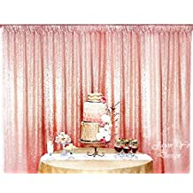 6FTx6FT Rose Gold Sparkly Photo Booth Backdrop Sequin, Choose Your Size Rose Gold Sequin Fabric Photo Booth,Sequin Curtains