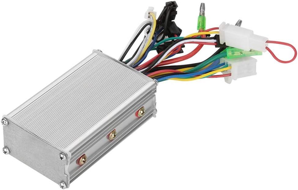 Sin escobillas del regulador del motor, MAGT 36V / 48V 250W Estable Menos ruido Controller E-Bici sin escobillas de velocidad for bicicleta eléctrica Vespa (Color : Plata)