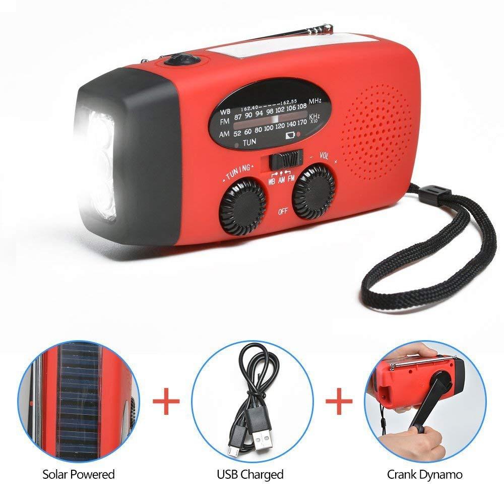 Radio de emergencia, linterna multifuncional para exteriores + ...