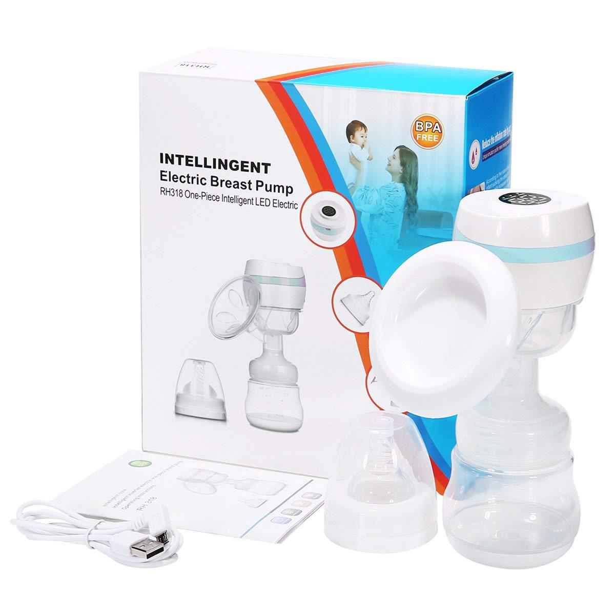 Sterilisierbar Alles-in-einem Design mit Einstellbarem Massage /& Saugniveau und R/ückflussschutz Tragbar USB Wiederaufladbar Tragbar Elektrische Milchpumpe Einzel Brustpumpe BPA-frei