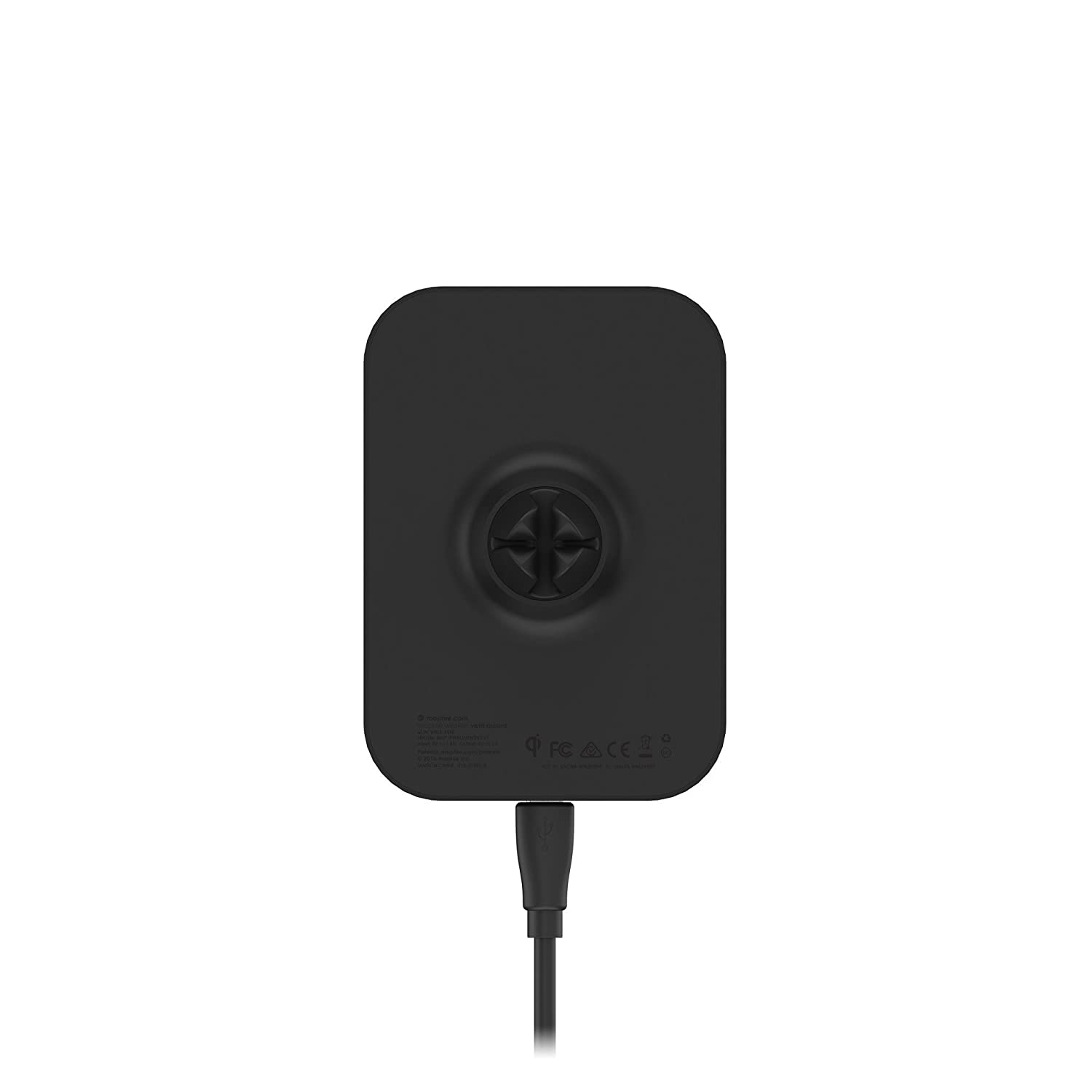 new product 61eb8 0646e Mophie Wireless Charging Car Vent Mount with Charge Force Wireless Power –  Black (Renewed)