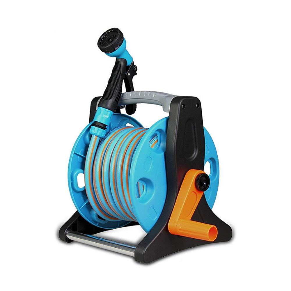 ガーデンホースノズル - ウォーターホーススプレーノズルトリガー 10Mホースリール自動車洗浄製品洗浄ノズル折りたたみ式ウォーターホーススプレーノズル高圧スプレーパターン用パイプ5ガーデニング用ウォーター洗浄用車の洗浄 植物の散水、デッキまたは歩道の清掃用 B07SBVFP5X