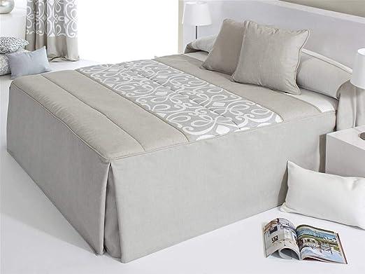 COLCHA EDREDÓN cama de 90 cm BEIGE modelo GRANDY: Amazon.es