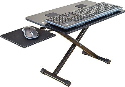 KT3 Soporte ergonómico de altura ajustable y inclinación negativa para teclado y mouse para colocar de pie. Sentarse de pie en el escritorio ...