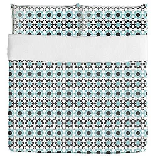 Arabic Tilework Duvet Bed Set 3 Piece Set Duvet Cover - 2 Pillow Shams - Luxury Microfiber, Soft, Breathable by uneekee