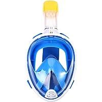 EECOO Máscara de Buceo, Máscara de Buceo Visual de 180 Grados, Natación Antivaho y a Prueba de Fugas, Máscara de Snorkel Completamente Seca con Tapones para Los Oídos Impermeables(L/XL)