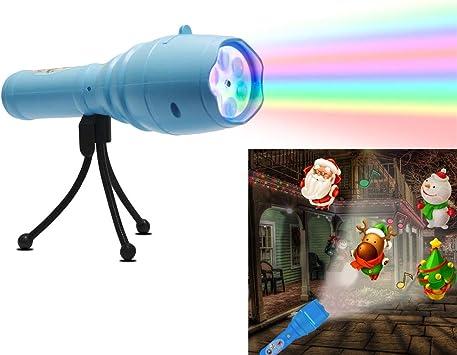HLDUYIN Proyector LED portátil Luces con trípode niños Linterna ...