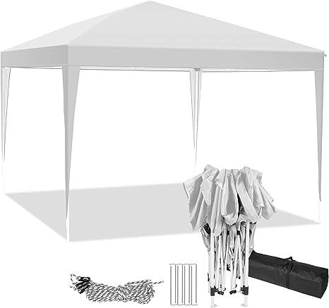 Hikole Carpa Plegable 3x3 Cenadores para Jardin Pergolas Plegables Impermeables con 4 Paredes Laterales, Gazebo Plegable de Jardín Patio Acampar
