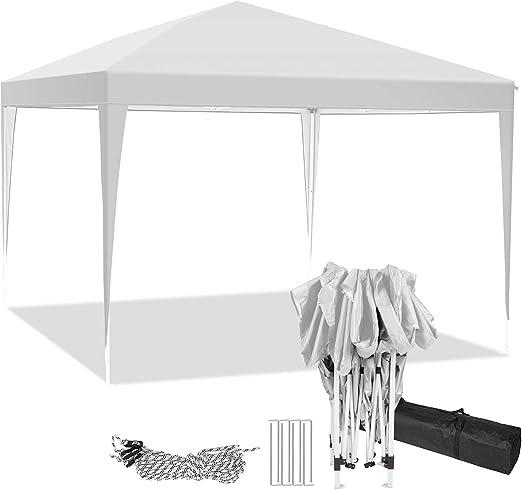 Hikole Carpa Plegable 3x3 Cenadores para Jardin Pergolas Plegables Impermeables con 4 Paredes Laterales, Gazebo Plegable de Jardín Patio Acampar: Amazon.es: Jardín