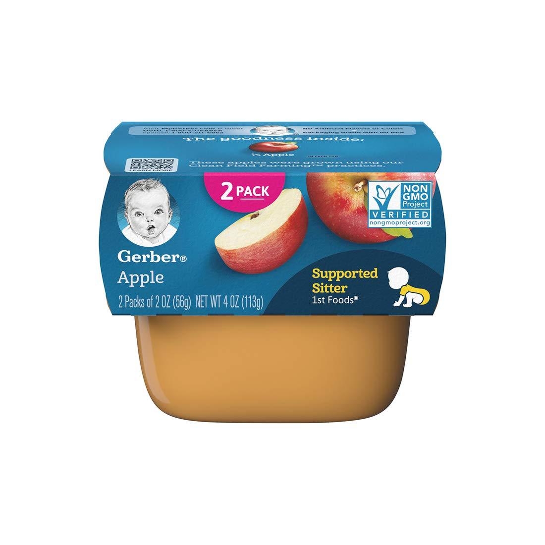 Gerber Purees, 1st Foods, Apple, 4 oz (pack of 2)