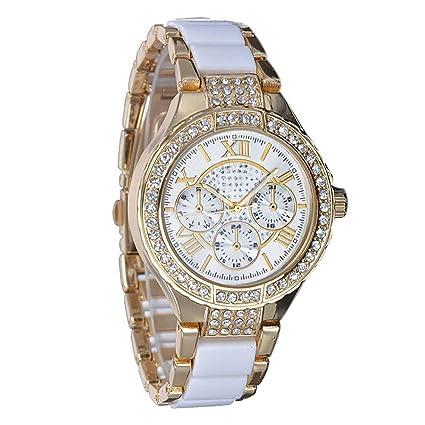 ZZH Mujeres Señoras Reloj De Pulsera De Imitación Mecánico Cristal Diamante  Reloj De Pulsera De Cuarzo 40d66560743b