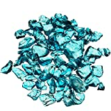 CYS Crushed Gravel Bag of Colored Glass Substrate Vase Filler, 1 lb, Sky Blue