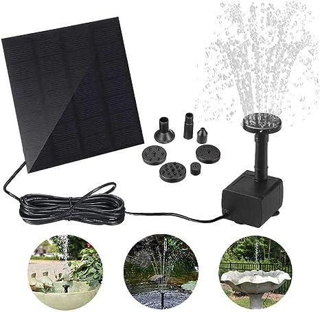 Xcmenl Solar Fuente Bomba 1.2W Fuente de Jardín Solar con 4 boquillas para Pequeño Estanque Fish Tank Decoración del Jardín: Amazon.es: Deportes y aire libre