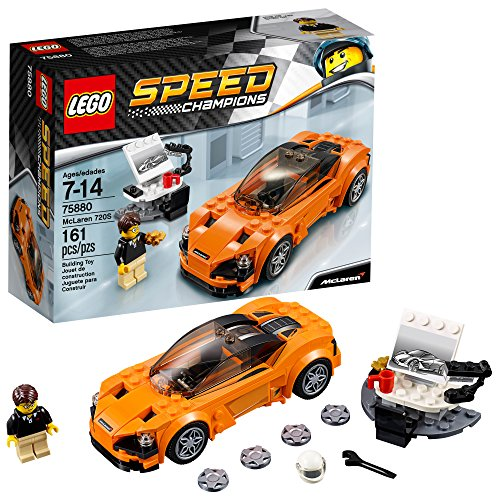 LEGO 75880 Speed Champions McLaren 720S Building Toy, 161pcs, Orange/Black