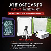 Amosfearfx Ghostly Appartions Video Ultimate Projector Bundle.Includes Projector, SD Media Card, Translucent Window Screen And Hologram Screen Stand Kit.