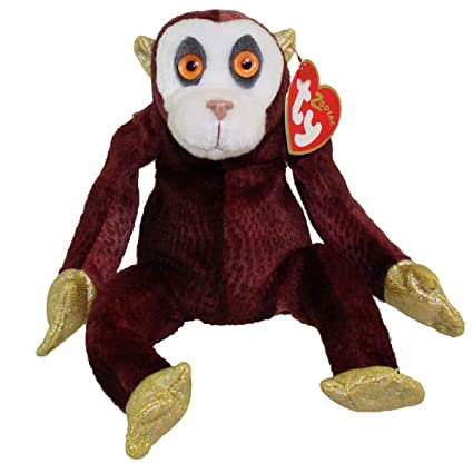 f6cc0de3e6e Image Unavailable. Image not available for. Color  TY Beanie Baby - THE  MONKEY Chinese Zodiac