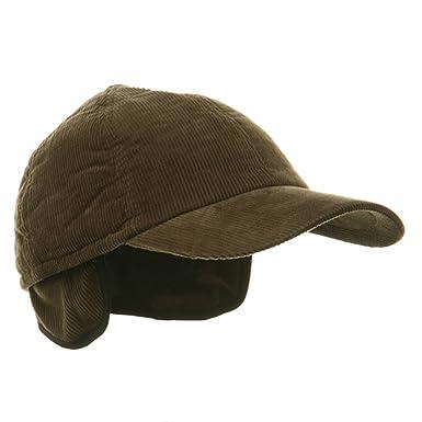 e1320206 Amazon.com: MG Men's Corduroy Warmer Flap Cap - Olive W28S54D: Clothing