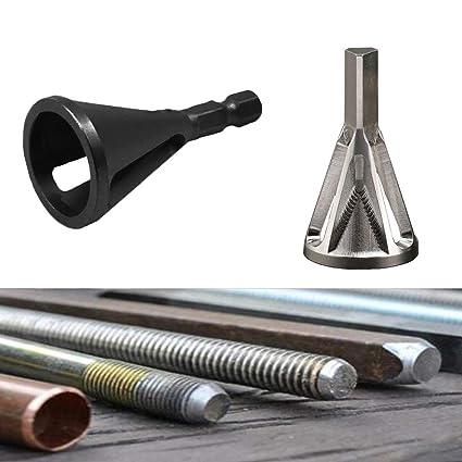 DOMOM Deburring External Chamfer Tool Drill Bit Remove Burr Silver