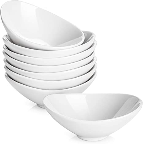 Dowan Dip Bowls Ceramic White Dipping Bowls Serving Bowls For Side Dishes Soy Sauce Dish 3 Oz Gravy Boat Dipping Sauce Dish Porcelain Set Of 8 Chip Dip Sets