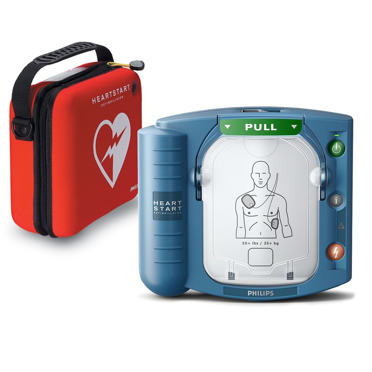 Philips HeartStart OnSite AED Defibrillator with Slim Carry Case, Model:M5066A-CO2