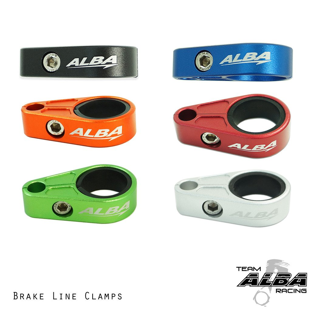 Yamaha ATV Billet Brake Line Clamps for Aftermarket Brakelines Silver 6 color options Pair-Set of 2