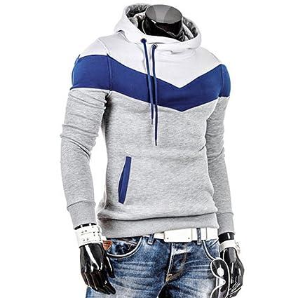 Amiley Sweatshirt Hoodie men, Men Long Sleeve Hoodie Hooded Sweatshirt Tops Jacket Coat Outwear at Amazon Mens Clothing store: