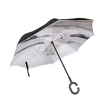 Paraguas invertido Arctic Fox de doble capa para coches, paraguas invertido, impermeable, resistente