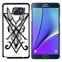 Planetar® ( Letters Initial V Pen Art Tile Monster ) Samsung Galaxy Note 5 5th N9200 Hard Printing Protective Cover Protector Sleeve Shell Case Cover