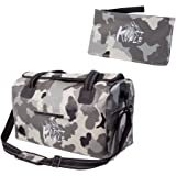 Karst Vale Waterproof Duffel Bag,40L Travel Tote Luggage Bag with Shoulder Strap,Forest Camo Gray