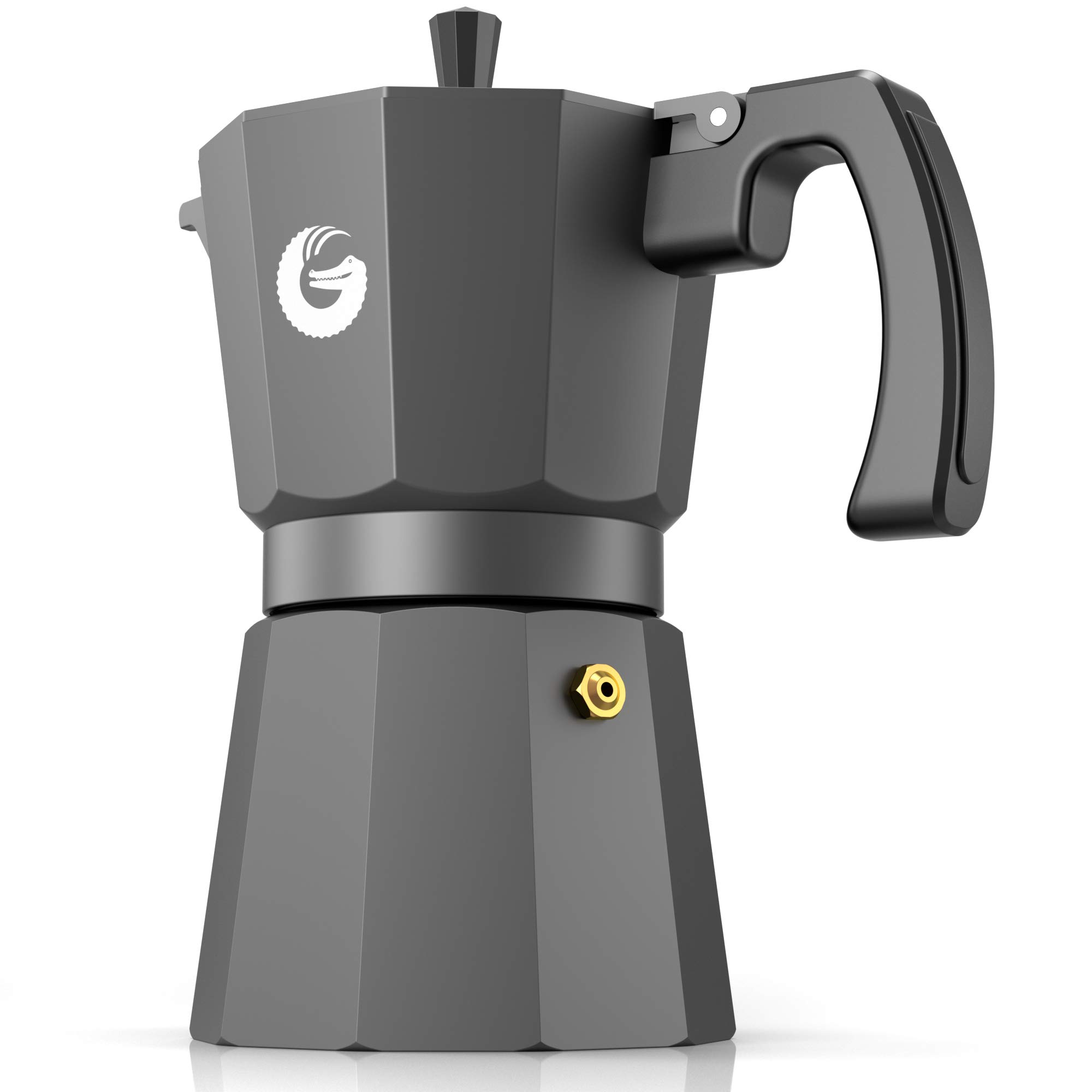 Coffee Gator Espresso Moka Pot - Stovetop Brewer Plus 2 Thermal Cups - 12 Ounce by Coffee Gator (Image #5)