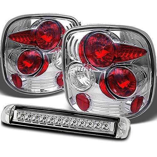 (Xtune for 1999-2004 Chevy Silverado/GMC Sierra StepSide Tail Lights + 3rd Brake LED Cargo Reverse Lamp 2000 2001 2002 2003)