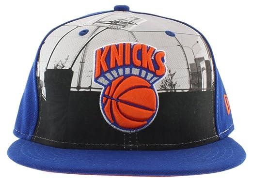 dc2a957b394 New Era York Knicks Round Dway 5950 Hat Royal Blue Orange at Amazon ...