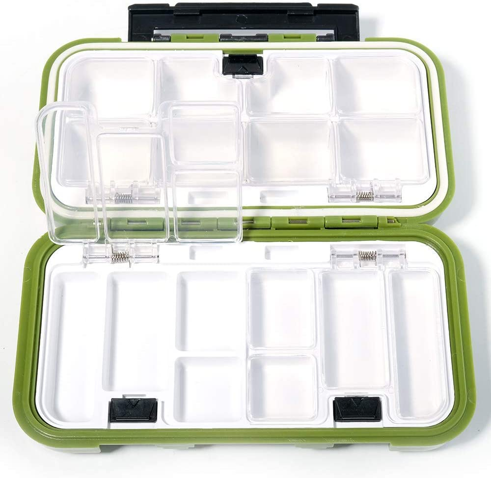 Hooks 6 X AVAILABLE Sealed Waterproof Fishing Tackle Small Lure Box