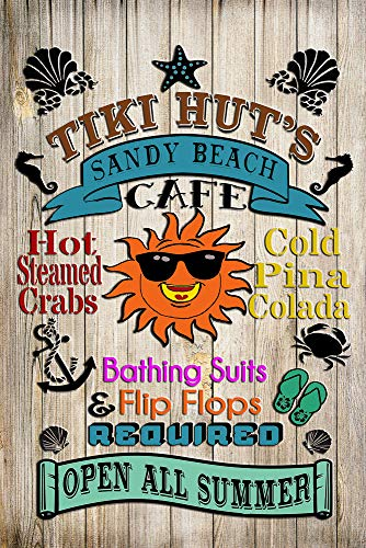 Tiki Hut's Sandy Beach Café -Bathing Suits, Flip
