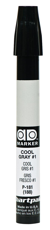 The Original Chartpak AD Marker, Tri-Nib, Cool Gray 1, 1 Each (P181)