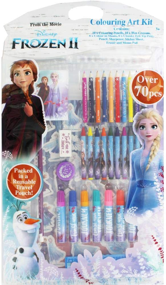 Disney Frozen 2 Children/'s Carry Along Travel Colouring Set Fun with Crayons