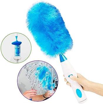 Rziioo Ajustable Pluma Plumero eléctrico Aspirador con Pilas de botón del Tacto, Azul: Amazon.es: Deportes y aire libre