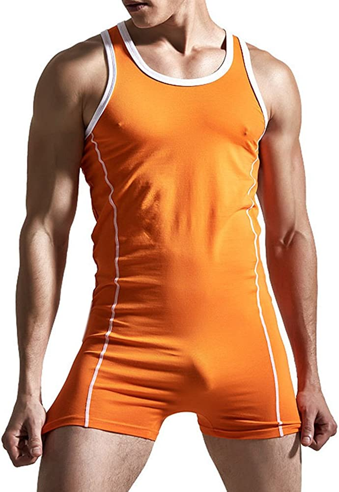 MUW Mens Dancing Top and Thong Bodysuit Set Underwear