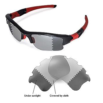 a0ddea2d04a Walleva Replacement Vented Lenses for Oakley Flak Jacket XLJ Sunglasses -  Multiple Options (Transition photochromic - Polarized)