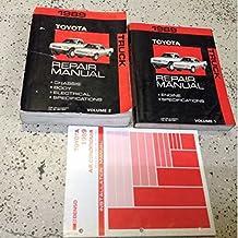 1989 TOYOTA PICK UP TRUCK Service Workshop Repair Shop Manual Set W AC Install B