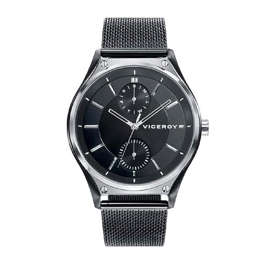 Viceroy 471183-57 - Reloj para Hombre, Acero IP Negro: Amazon.es: Relojes