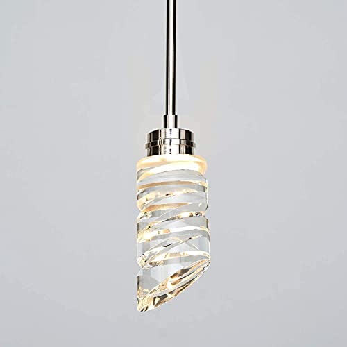 MOTINI 1-Light Crystal LED Pendant Light