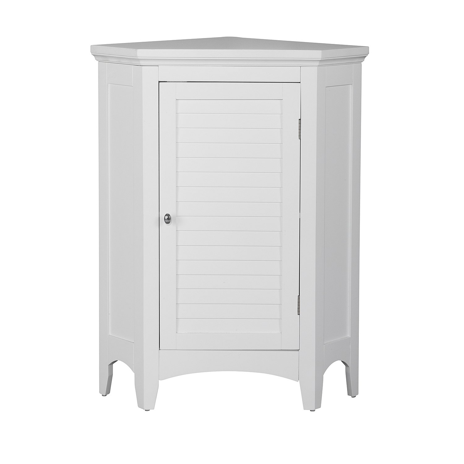 Elegant Home Fashions Adriana Corner Floor Cabinet with 1-Shutter Door