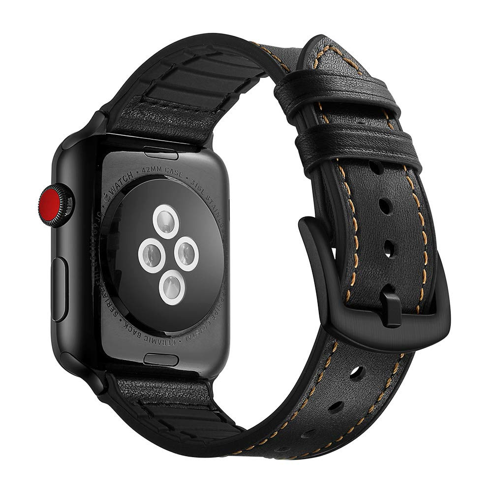 Amazon.com: Camouflage Leather Strap Band for Apple Watch ...