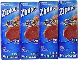 Ziploc Freezer Pint Bags, 80ct. by Ziploc